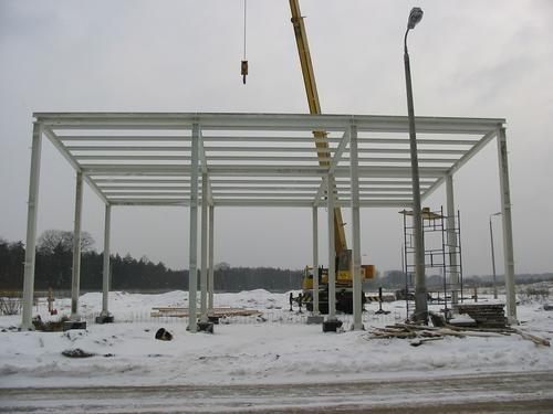 Hala logistyczna konstrukcja stalowa